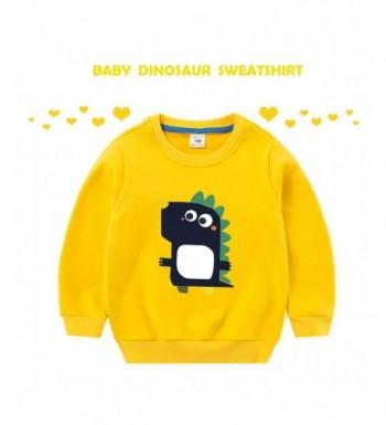 FOROOM Dinosaur Sweatshirt Crewneck Pullover
