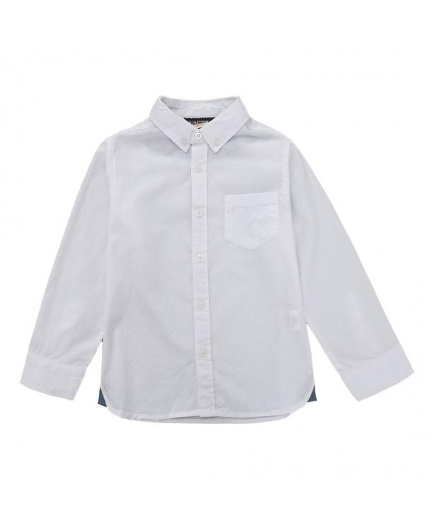 MOMOLAND Sleeve Woven Button Dobby