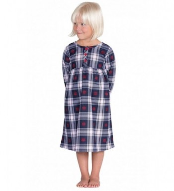 PajamaGram Toddlers Classic Flannel Nightgowns