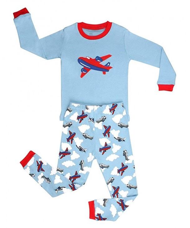 Elowel Airplane Pajamas Cotton Size2Y 12Y