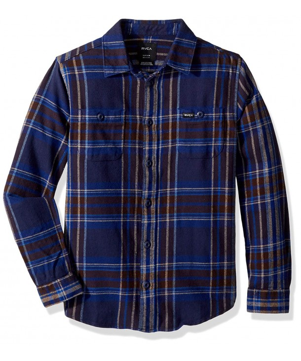 RVCA Ludlow Flannel Sleeve Button