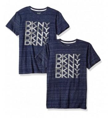 DKNY Sleeve Striated Heather T Shirt