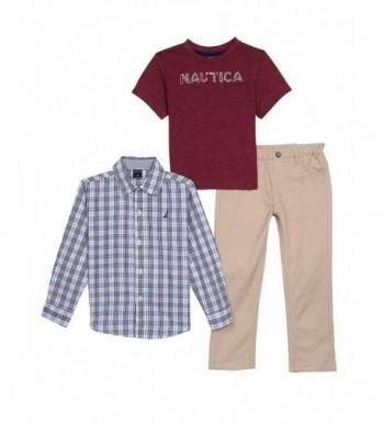 Nautica Boys Sleeve Button Pants