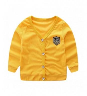 LittleSpring Toddler V Neck Cardigan Button