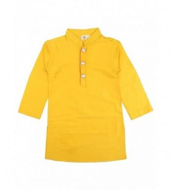 Regular Kurta Pajama Yellow White