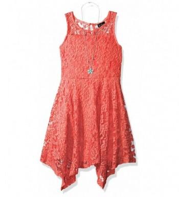 Lilt Girls Illusion Hanky Dress