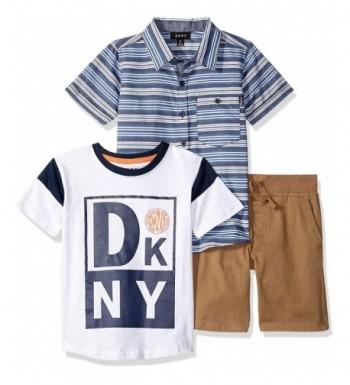 DKNY Sleeve Woven T Shirt Twill