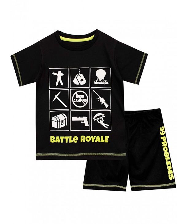 Battle Royale Gaming Pajamas Black