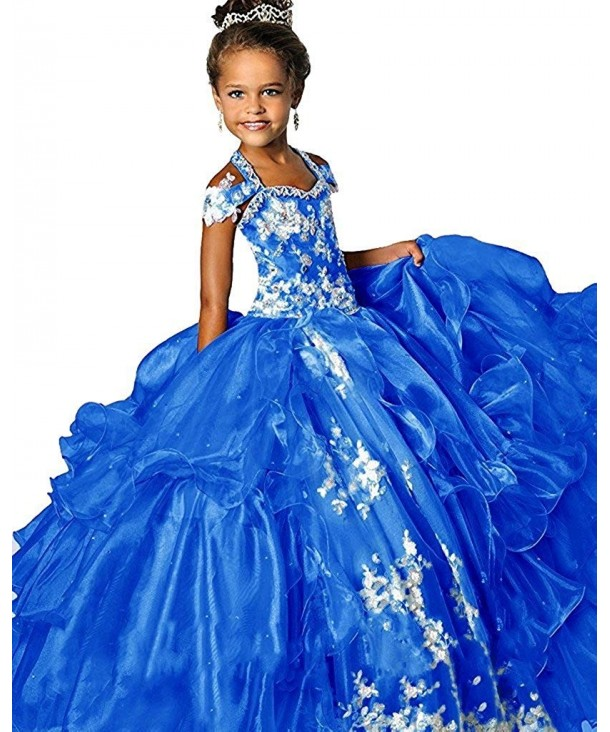 WZY Ruffled Beading Pageant Dresses