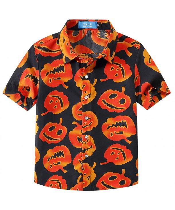 SSLR Pumpkins Button Sleeve Halloween