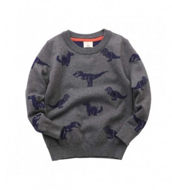 Abalacoco Knitted Sweater Pullover Dinosaur