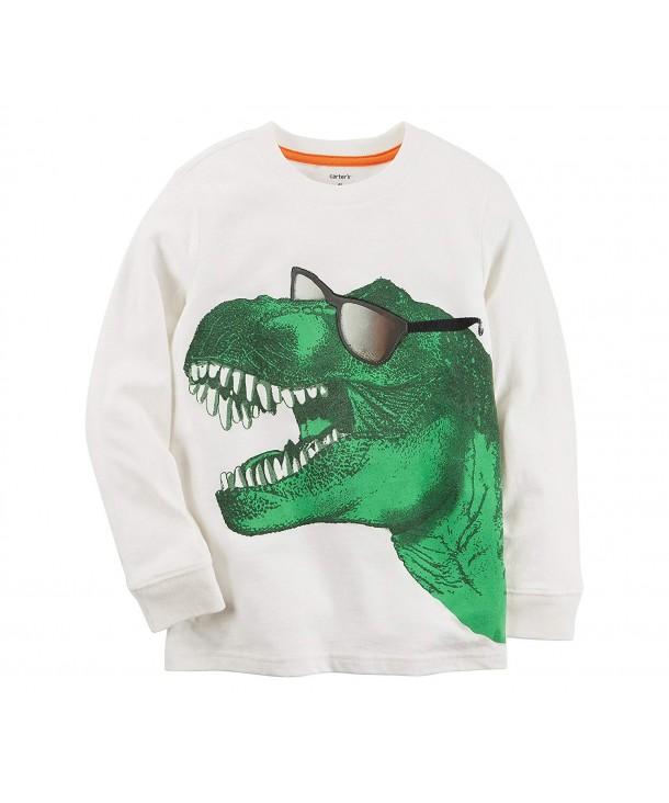 Carters Boys Long Sleeve Dinosaur