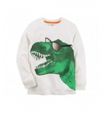 Carters Boys Long Sleeve Dinosaur