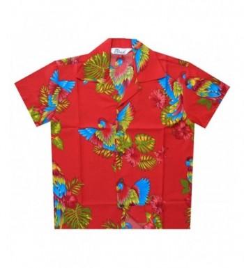 Hawaiian Shirts Floral Parrot Holiday