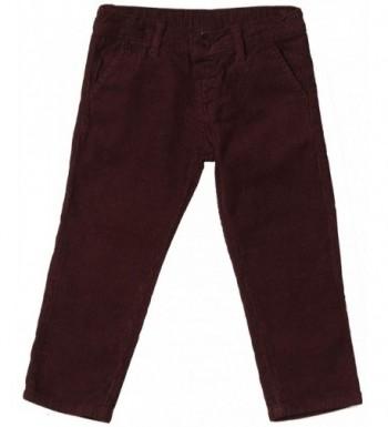 Girandola Boys Pants Toddler Maroon