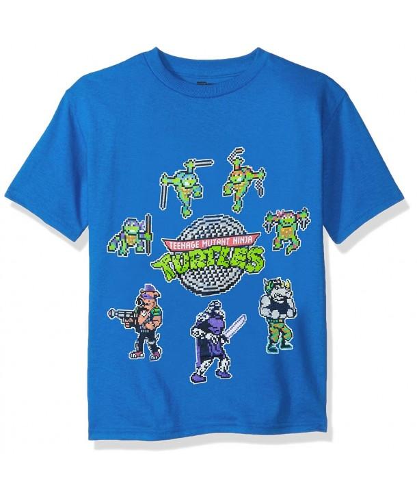 Teenage Turtles Pixelated Characters T Shirt
