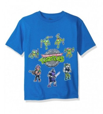 Teenage Turtles Pixelated Characters T Shirt