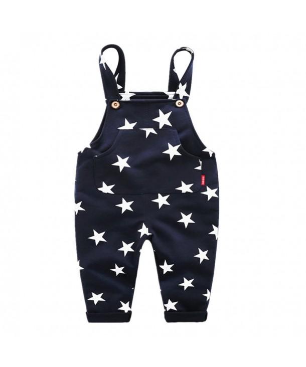 LittleSpring Little Boys Pants Stars