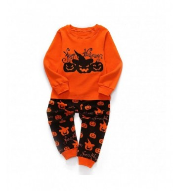 Little Pajamas Halloween Pumpkin Sleepwear