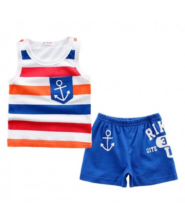 LittleSpring Little Shorts Summer Striped