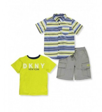 DKNY Baby 3 Piece Short Outfit