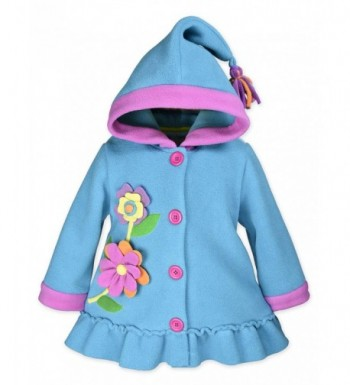 Widgeon Girls Hooded Fleece Flower