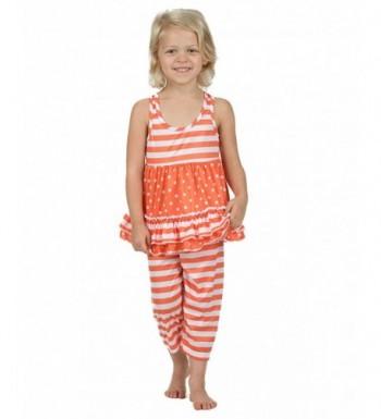 Laura Dare Tangerine Racerback Pajamas