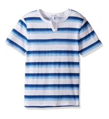 Splendid Short Sleeve Ombre Striped