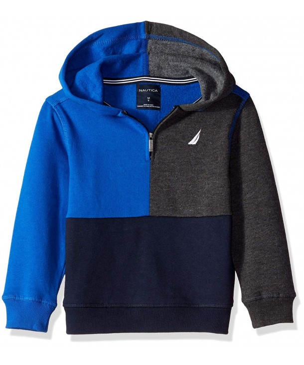 Nautica Fleece Color Block Pullover
