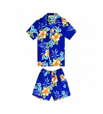 Hawaiian Shirt Cabana Hibiscus Blue