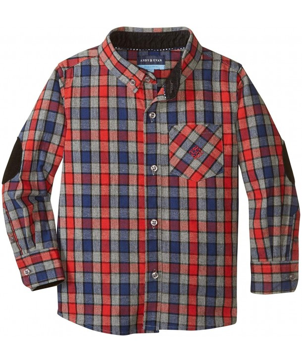 Andy Evan Multi Flannel Shirt Toddler
