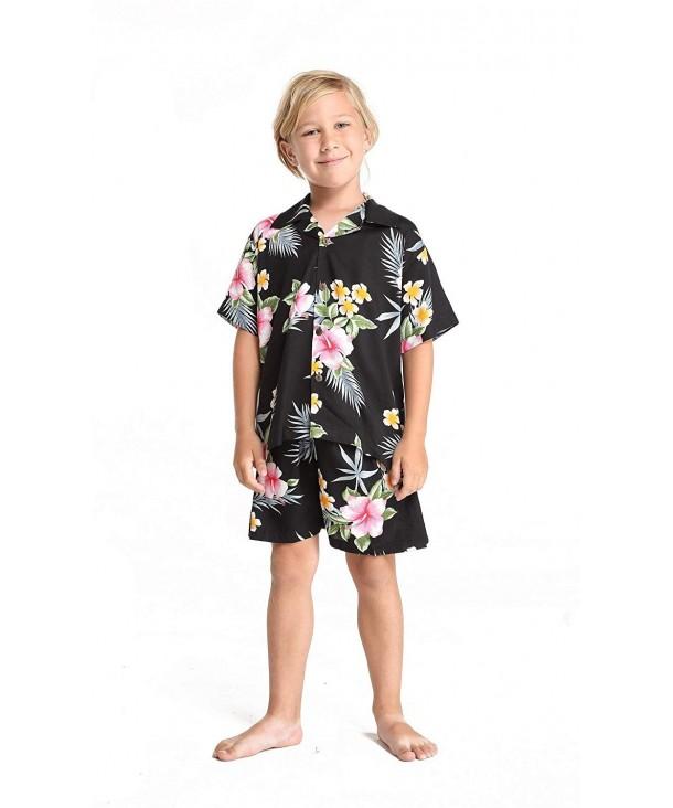 Boy Hawaiian Shirt Cabana Hibiscus