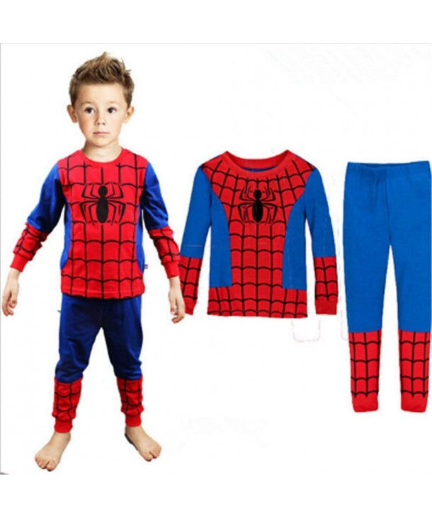 Pajamas Children Christmas Spider Man Sleepwear