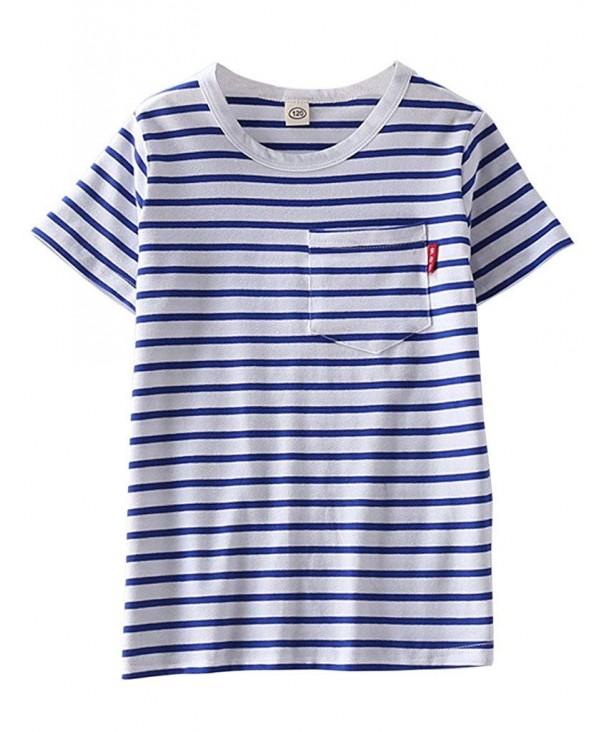 ASHERANGEL Classic Striped T Shirt Crewneck