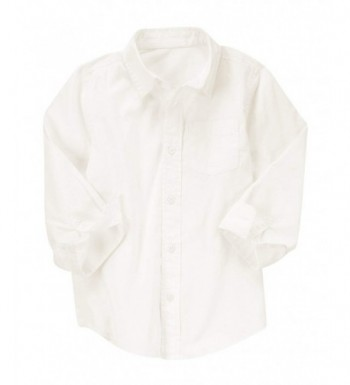 Crazy Ivory Long Sleeve Oxford Woven