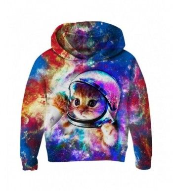 RAISEVERN RAISEVERN Unisex Child Hoodie 3D Printed Fleece Casual Novelty Pullover Hooded Sweatshirt for Boys Girls Age 3 14
