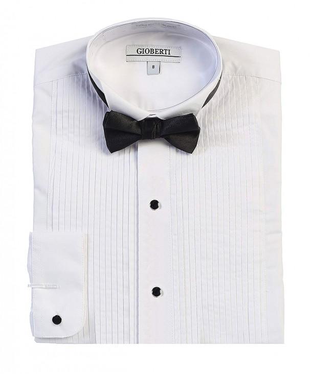 Gioberti Collar Sleeve Tuxedo Dress