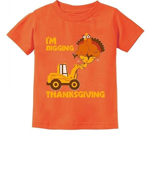 TeeStars Digging Thanksgiving Tractor Toddler