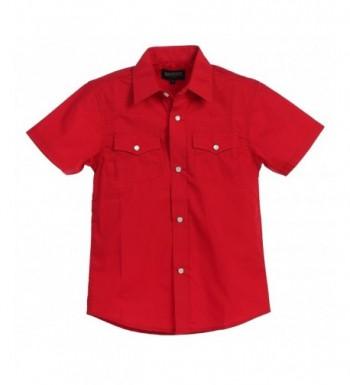 Gioberti Solid Short Sleeve Western