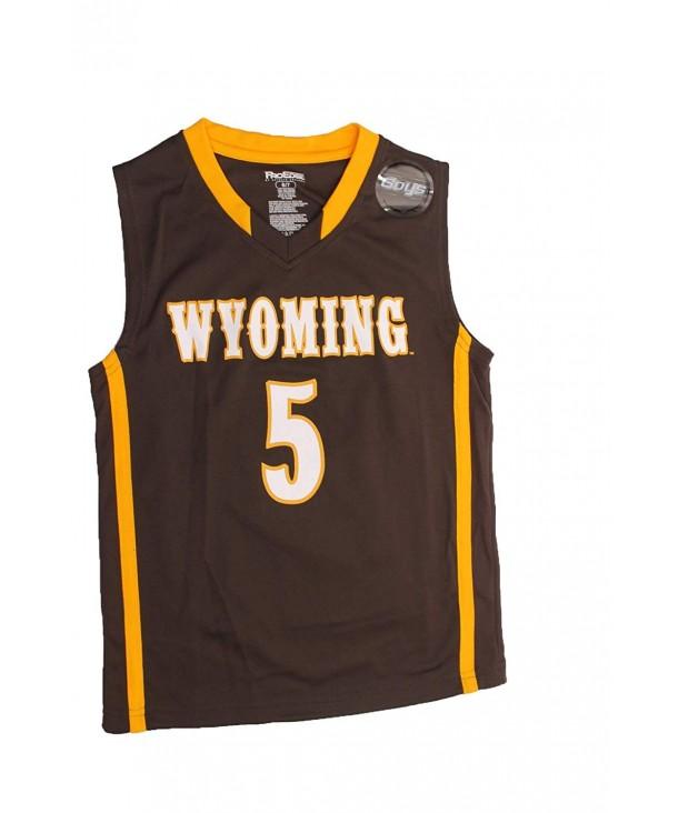 NCAA Wyoming University Jersey Brown