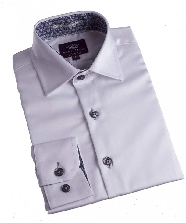 Cotton White Dress Shirt Accents