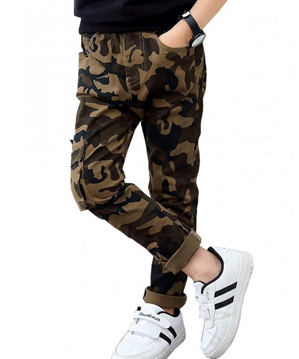 LittleXin Fashion Elastic Trousers Camouflage