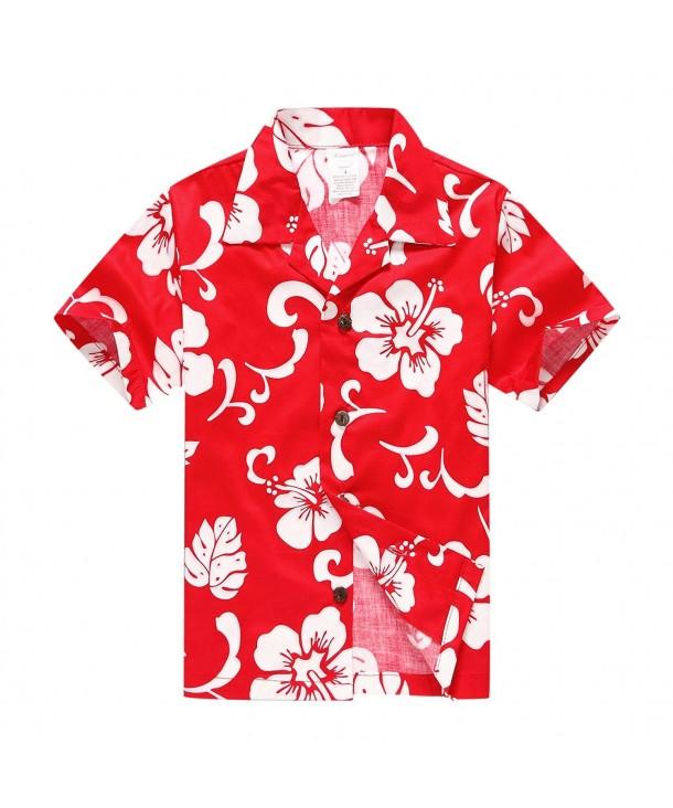 Palm Wave Hawaiian Shorts Hibiscus