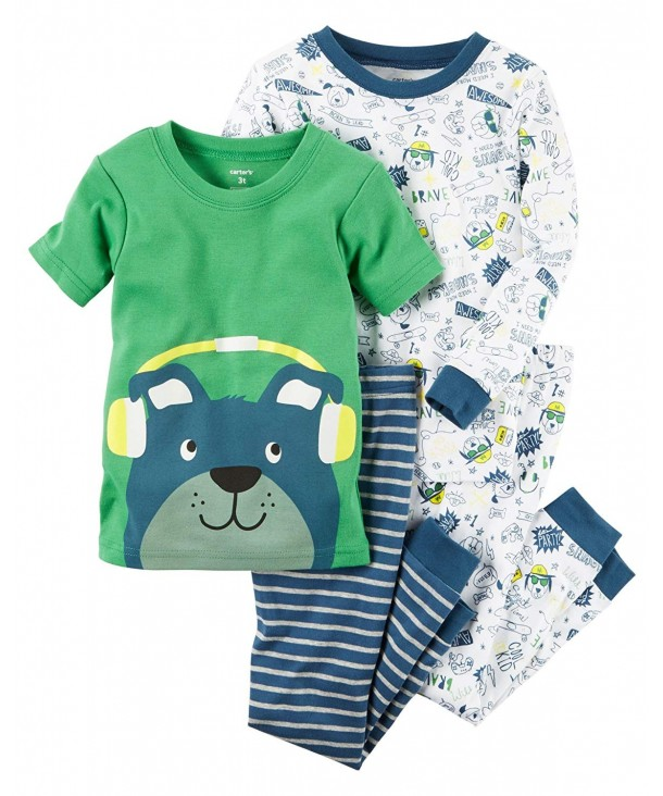 Carters Little 4 Piece Cotton Pajamas