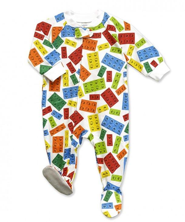Saras Prints Boys Footed Pajamas