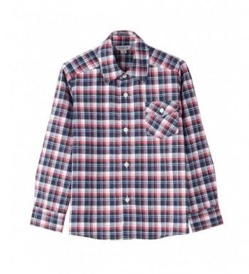 Bienzoe Flannel Button Sleeve Plaid