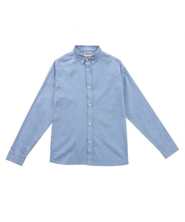 MOMOLAND Sleeve Button Shirts Chambray