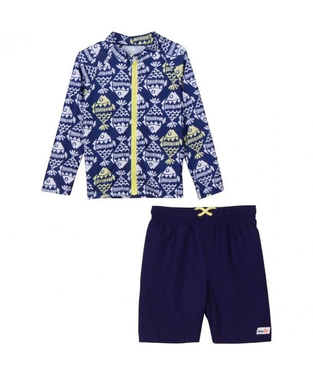 SwimZip Little Zipper Sleeve Swimsuit