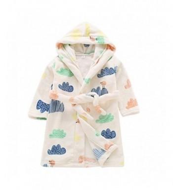 Aivtalk Pattern Flannel Bathrobe Sleepwear