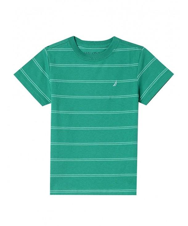 Nautica Sleeve Striped Crew Neck T Shirt